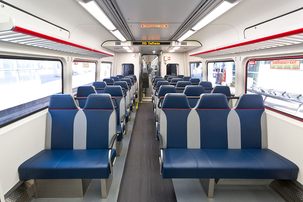Commuter Rail Car Interior
