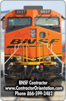 BNSF contractor railroad safety ID card