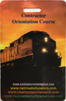 UPRR Contractor railroad Safety Training Card