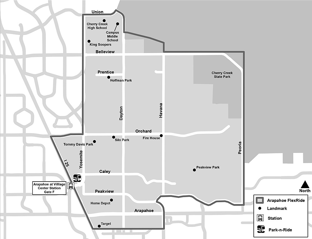 Arapahoe FlexRide Map