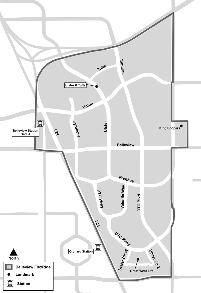 Belleview FlexRide Map