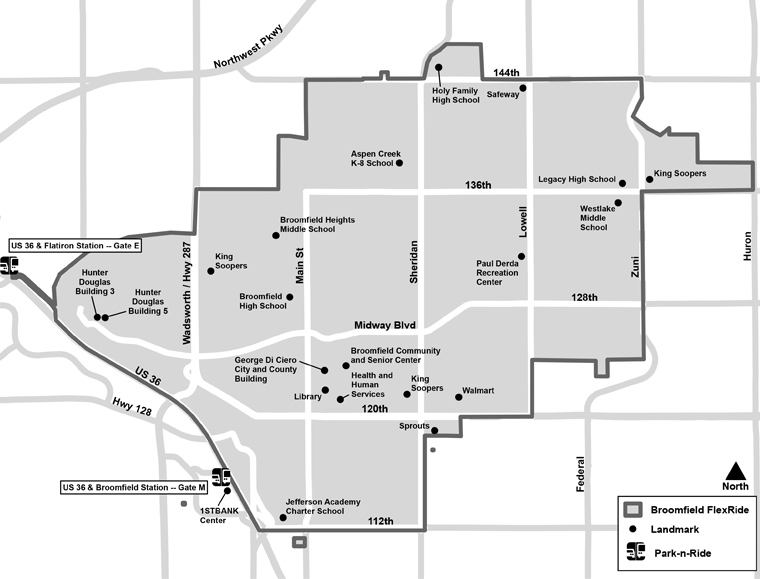 Broomfield FlexRide Map