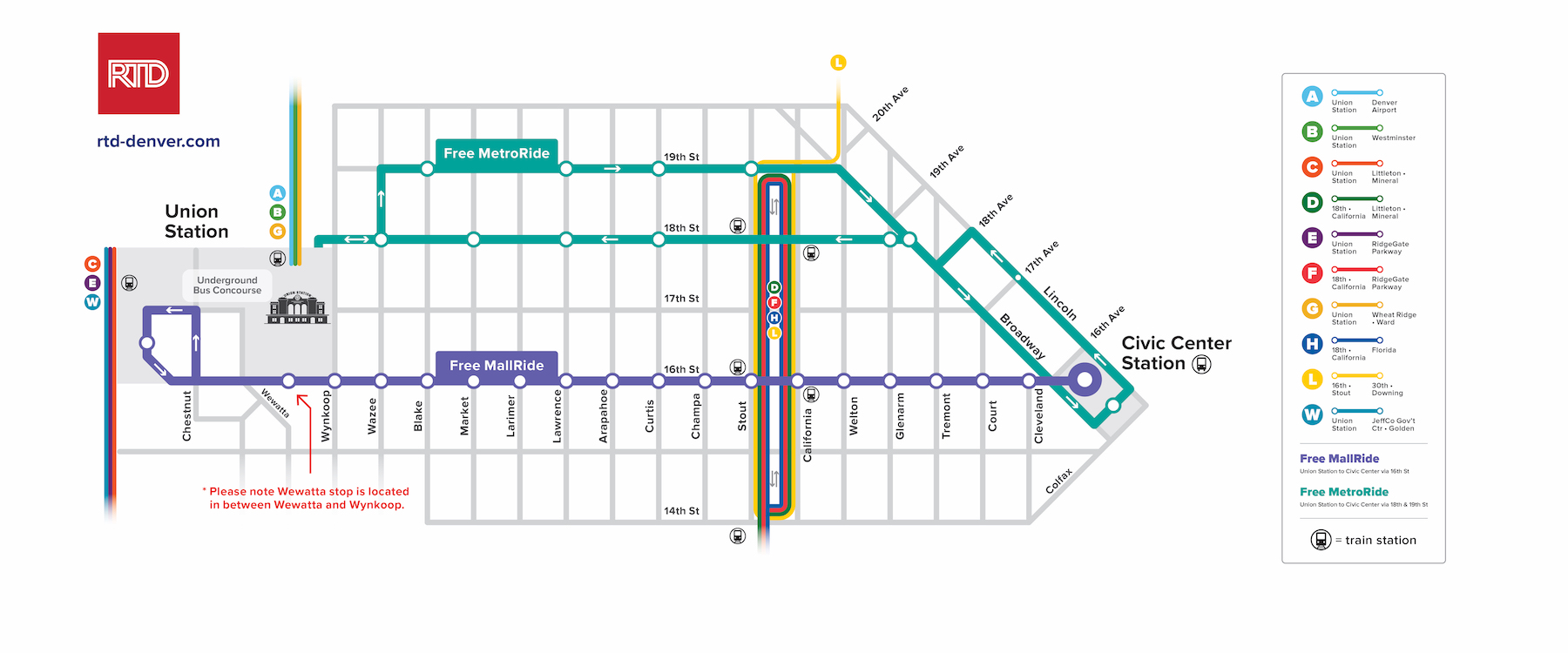 Free MallRide and MetroRide Map