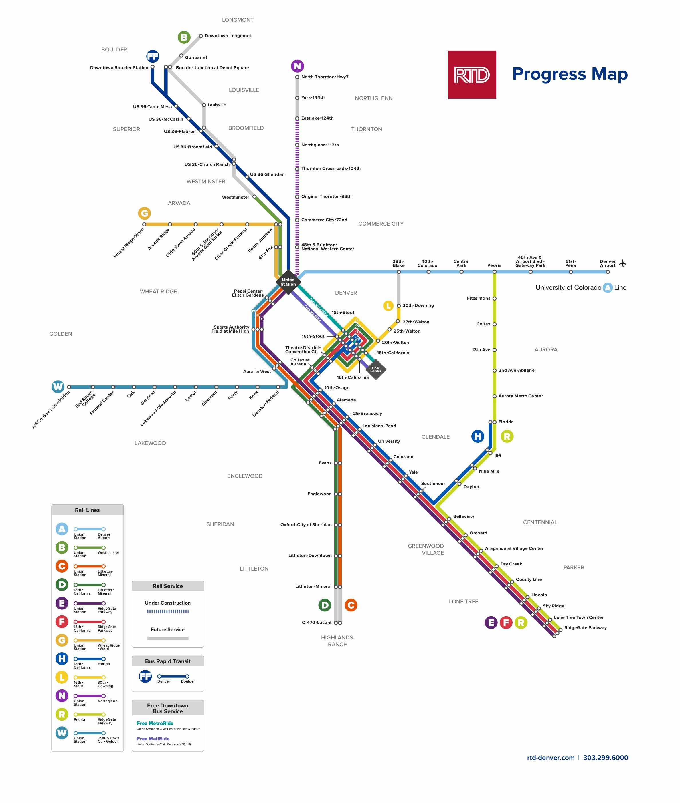 denver light rail map pdf Fastracks Rtd Denver denver light rail map pdf