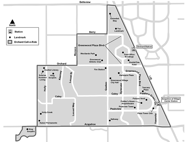 Orchard FlexRide Map