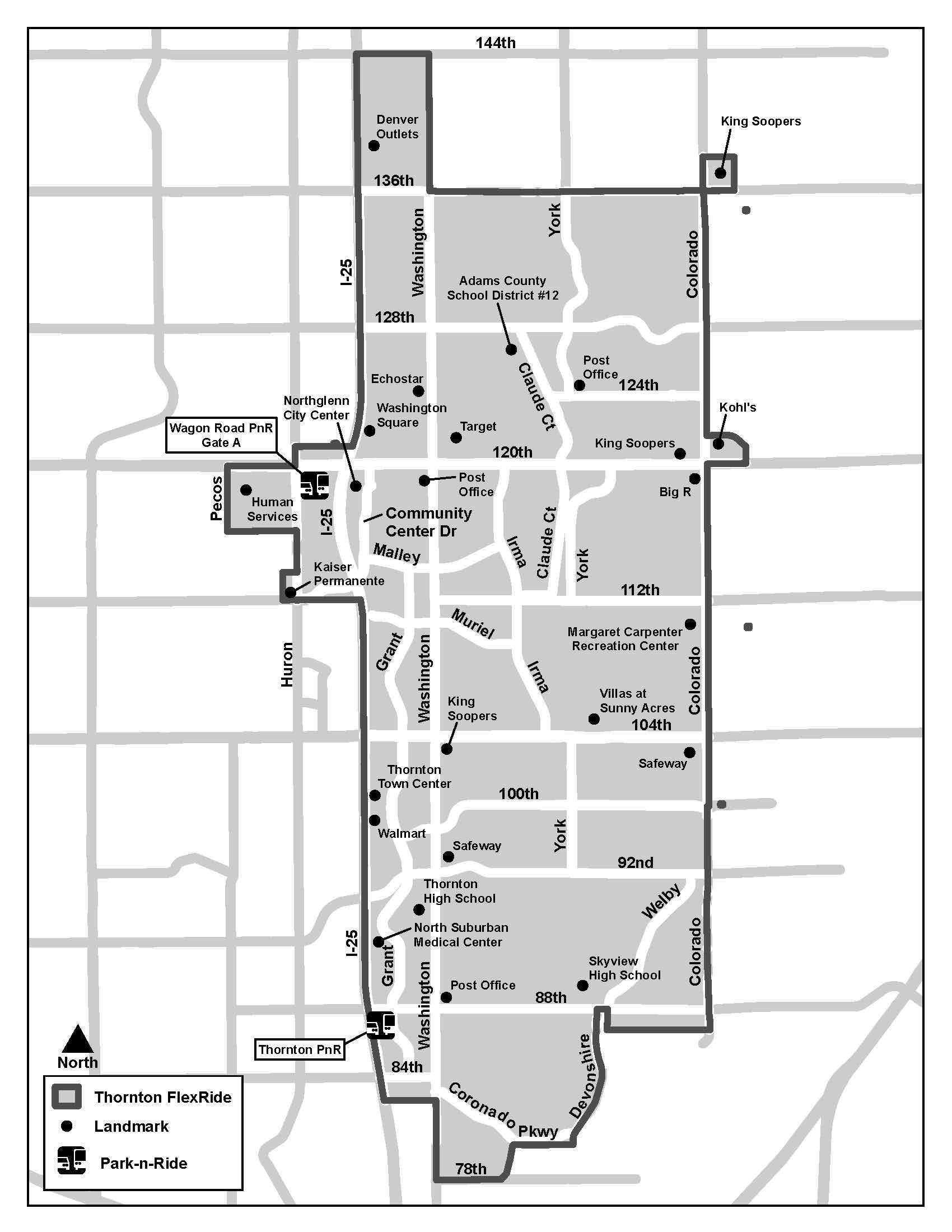 Thornton FlexRide Map