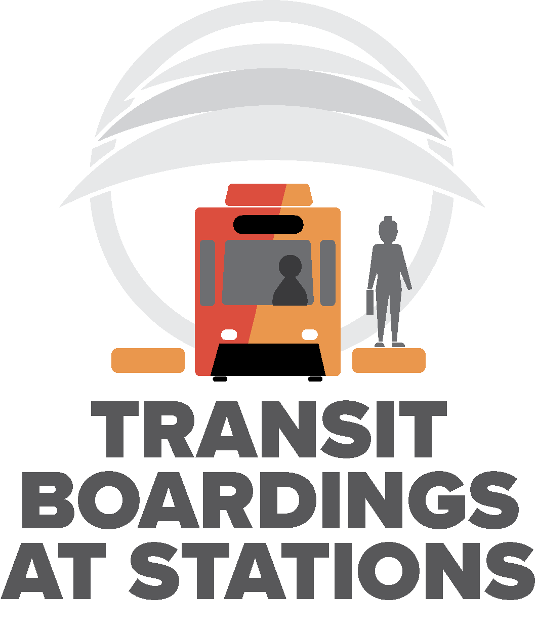 transit boardings at stations