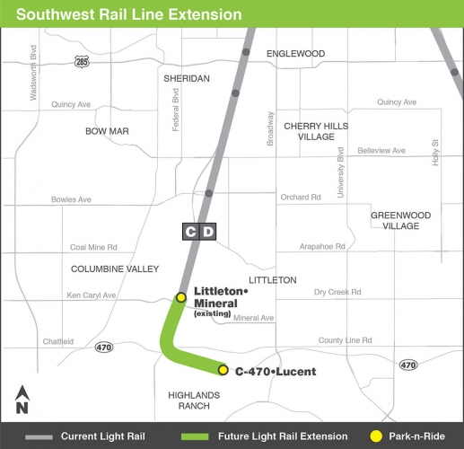 Map of Southwest Extension
