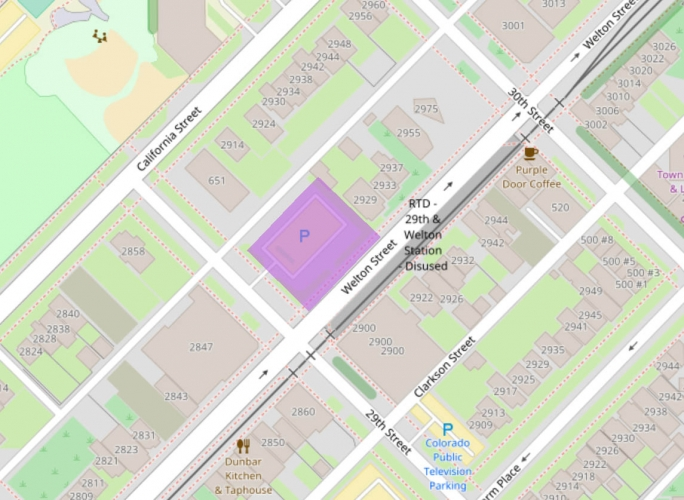 29th and Welton TOD Map 2017