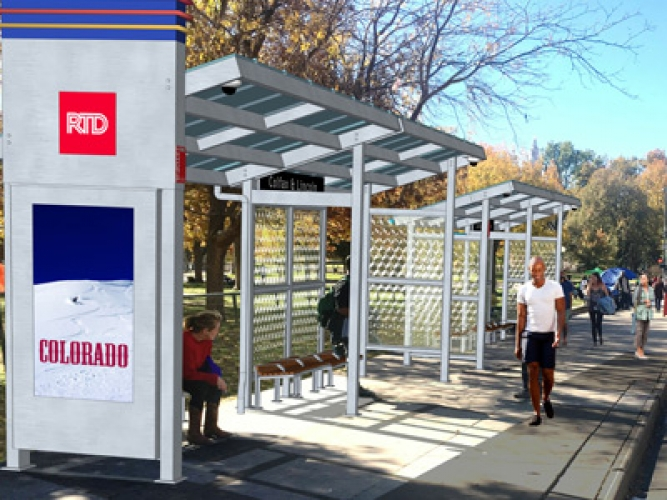 15L bus shelter rendering Lincoln